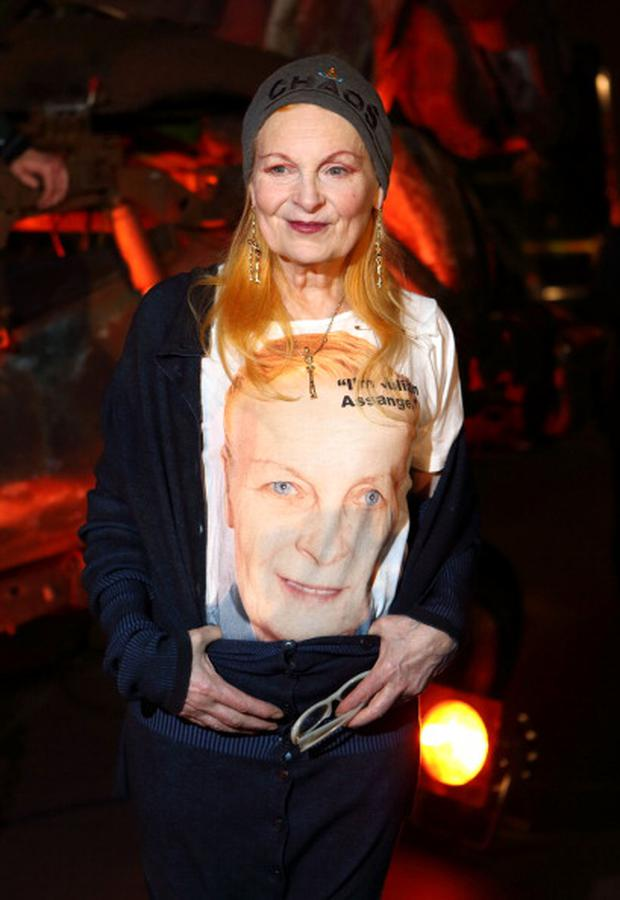 Vivienne Westwood at the Vivienne Westwood Man show at the London Collections: MEN AW13 at Harrods in London, England, 2013. (Photo by Mike Marsland/WireImage)