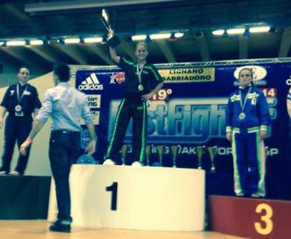 World champions Sinead Beasley - Pic credit: Facebook