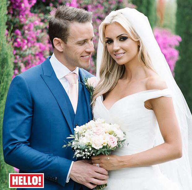 Rosanna and Wes pictured on their big day (Photo: Hello! magazine)