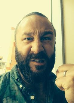 Chris O'Dowd tweeted a pic of his 'good loser face' prior to the Tony Awards