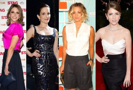 The funny women: (From left) Amy Huberman, Tina Fey, Kaley Cuoco, Anna Kendrick