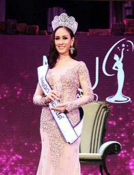 Weluree Ditsayabut, was crowned Miss Universe Thailand. (AP Photo)