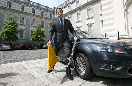 Minister for Transport Leo Varadkar at the publication of the new Clamping Bill at Government Buildings. Photo: Gareth Chaney Collins