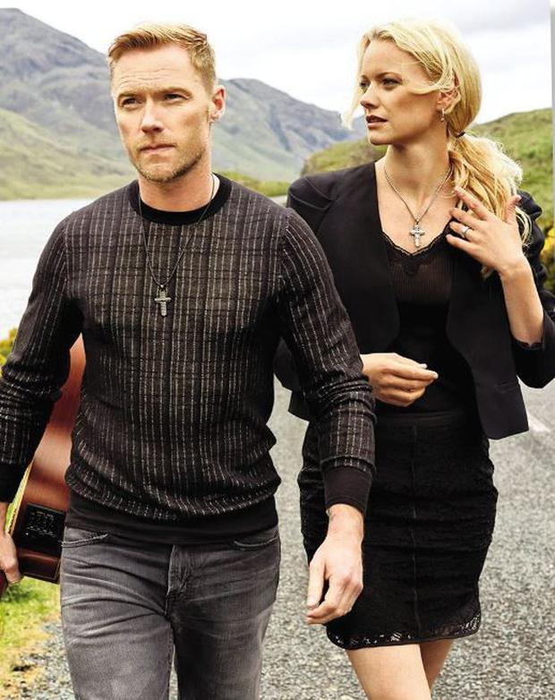 STRIKE A POSE: Ronan with German model Franziska Knuppe in Connemara