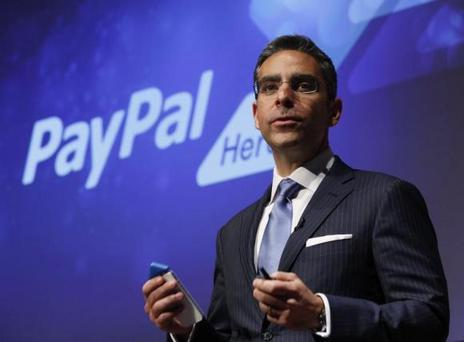 PayPal President David Marcus speaks during a news conference in 2012; the company is under fire for looking for workers through the JobBridge scheme.