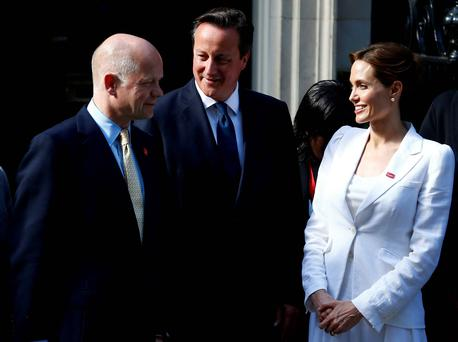 Jolie is in London to attend a summit on sexual violence in conflict. Reuters/Andrew Winning