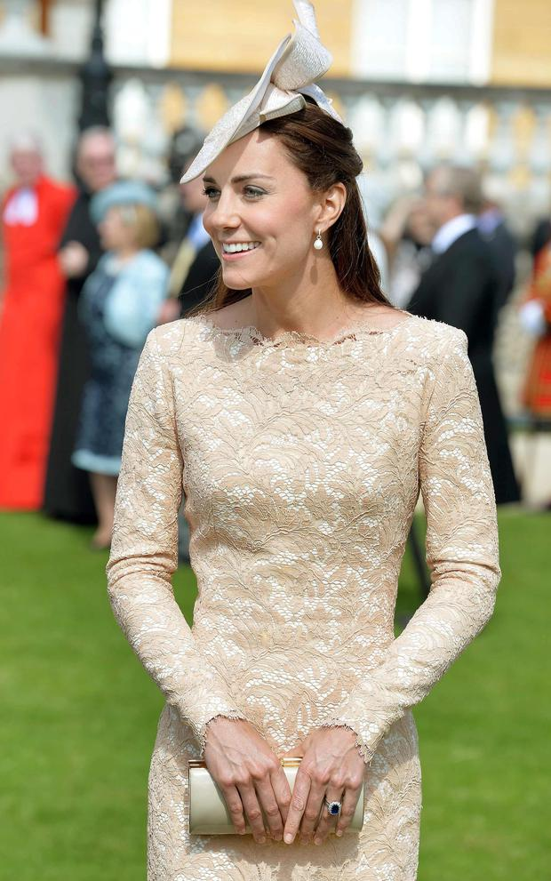 Britains Duchess Of Cambridge Recycles Diamond Jubilee Lace
