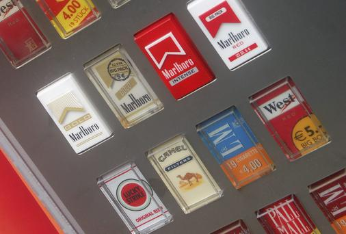 The sale of cigarettes from vending machines is set to be banned.