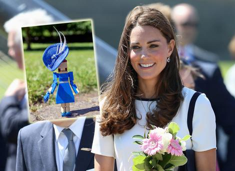 Kate Middleton and, inset, the Lego duchess figurine