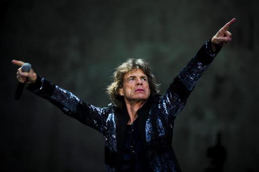 Mick Jagger at Waldbuehne in Berlin. Reuters/Thomas Peter