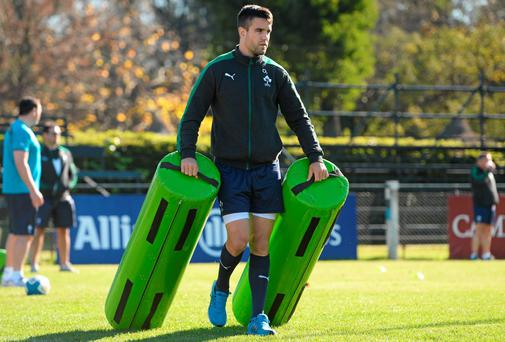 Conor Murray gets ready for the Irish training at the San Isidro Club in Buenos Aires