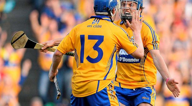 Shane O'Donnell and Podge Collins (left) took the Championship by storm last year but Clare's rivals will know what to expect this year, according to coach Louis Mulqueen. SPORTSFILEPicture credit: Stephen McCarthy / SPORTSFILE