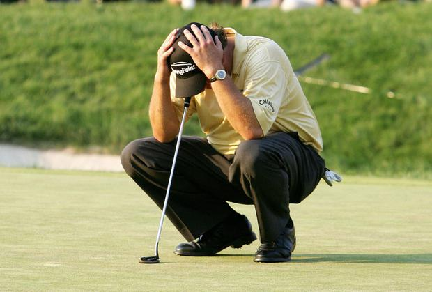 Phil Mickelson during the final round of the 2006 US Open Championships in June 2006 at Winged Foot
