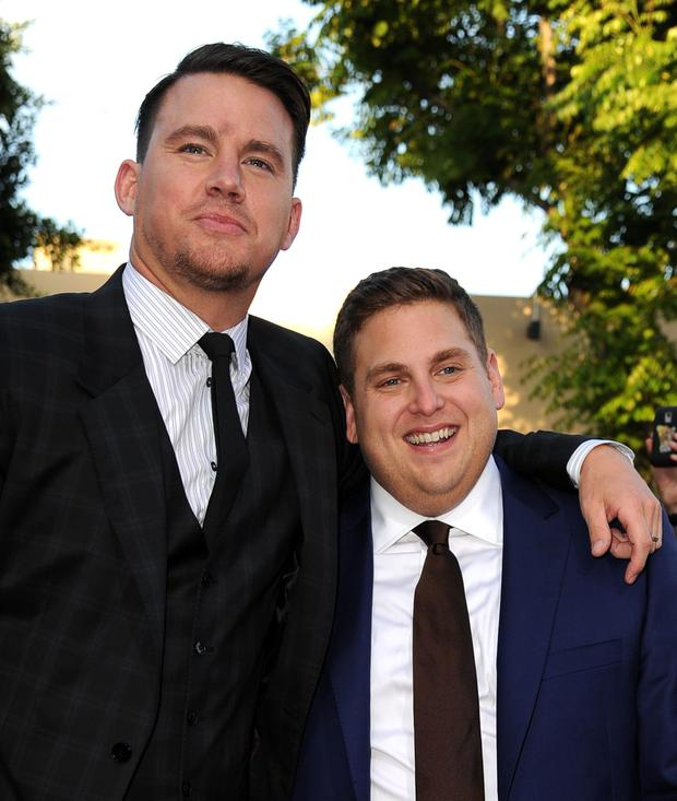 Actors Channing Tatum and Jonah Hill