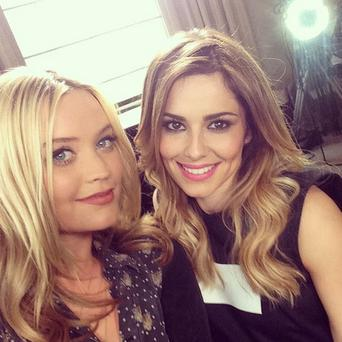 Laura Whitmore and Cheryl Cole