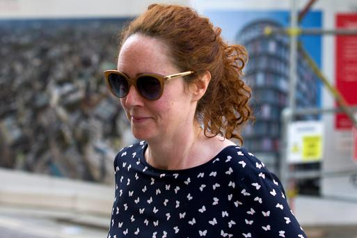 Former News International chief executive Rebekah Brooks arrives at the Old Bailey as the phone hacking trial continues in London