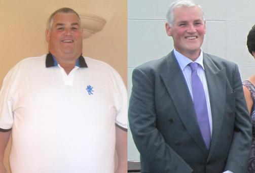 Kieran Keeling from Murrintown, Co. Wexford before and after he lost 20 stone in weight. Picture: Patrick Browne