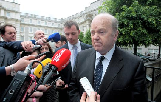Finance Minister Michael Noonan said 91pc of the two property-related taxes had so far been paid this year