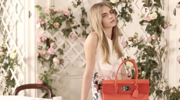 Cara Delevingne in the Mulberry's SS14 fashion video