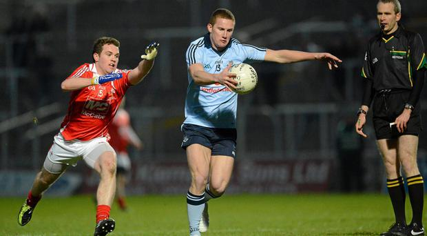 Barry Hamilton in action against Dublin's Ciaran Kilkenny during a Leinster under-21 championship game in 2012