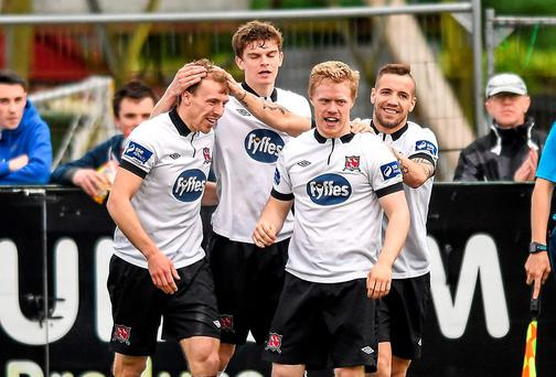 Dundalk have put together an extraordinary run of form to sit at the top of the League of Ireland. Photo: Paul Mohan / SPORTSFILE