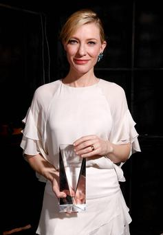 Actress Cate Blanchett, Crystal Award for Excellence in Film award recipient, attends Women In Film 2014 Crystal + Lucy Awards. Getty Images