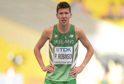 Ireland's Paul Robinson ran a brilliant race this morning