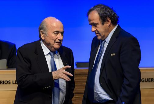 UEFA president Michel Platini withdrew his support for Sepp Blatter as FIFA president in June. Photo: FABRICE COFFRINI/AFP/Getty Images