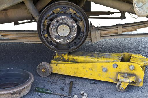 Truck axle (stock photo)