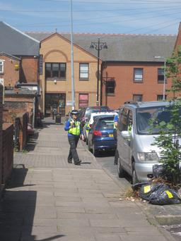 A police woman on Chesterton Road, Birmingham, as a young boy believed to be around four years old, was discovered by a member of the public there, just before 10pm last night. PRESS ASSOCIATION Photo. Picture date: Friday June 13, 2014. Officers attended the scene and the child was taken to a local police station before being transferred to the care of social services. See PA story POLICE Boy. Photo credit should read: Matthew Cooper/PA Wire