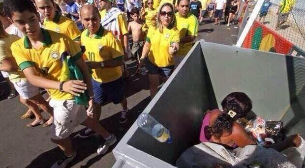 Social media users share image first taken during last year's Confederations Cup showing host nation's 'two faces'