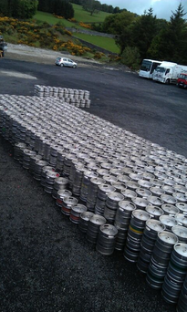 Some 1,000 beer kegs were recovered.