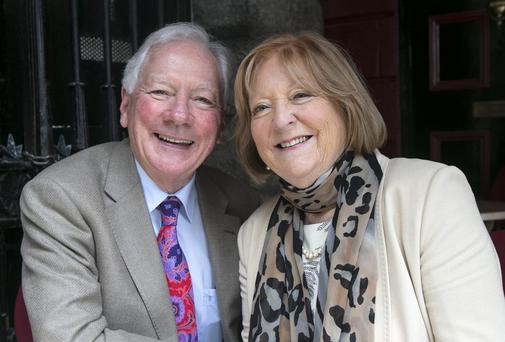Gay Byrne and Kathleen Watkins