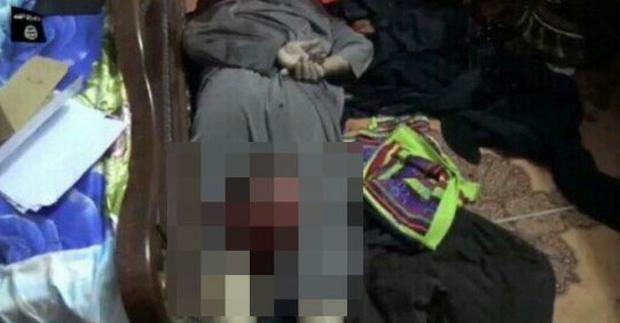 A still of the video which allegedly shows a police chief being murdered