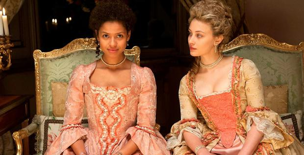 Depth and Beauty: Gugu Mbatha-Raw (left) stars alongside Sarah Gadon (right) in Amma Asante's political period drama