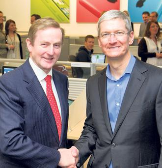 Pimp my taxes: Taoiseach Enda Kenny and Apple CEO Tim Cook in Cork this year