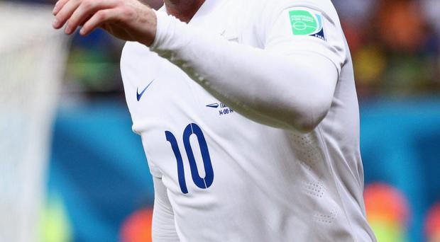 Wayne Rooney of England looks on during the 2014 FIFA World Cup Brazil match between England and Italy at Arena Amazonia