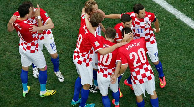 Croatia have refused to speak to the press after pictures emerged of the players sunbathing in the nude at swimming pool