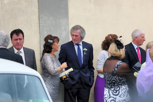 Pat Jennings attends the wedding of Sarah Morrisey and his son Pat Jennings at Santa Maria In Selva in Buggiano on June 15, 2014 in Buggiano, Italy