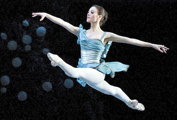 Melanie Hamrick, a dancer with American Ballet Theatre in New York, performs in