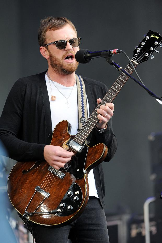 GLASGOW, SCOTLAND - MAY 25: Caleb Followill of Kings Of Leon perform live at Radio 1's Big Weekend at Glasgow Green on May 25, 2014 in Glasgow, Scotland. (Photo by Dave J Hogan/Getty Images)