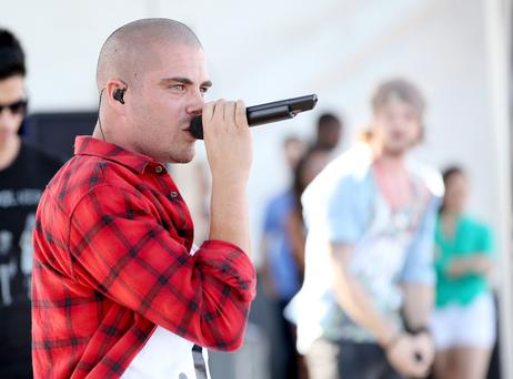 LAS VEGAS, NV - SEPTEMBER 21: Max George of The Wanted performs onstage during the iheartRadio Music Festival Village on September 21, 2013 in Las Vegas, Nevada. (Photo by Christopher Polk/Getty Images for Clear Channel)