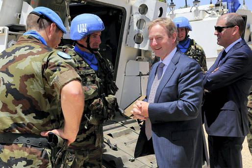 Enda Kenny meets Irish troops in Lebanon