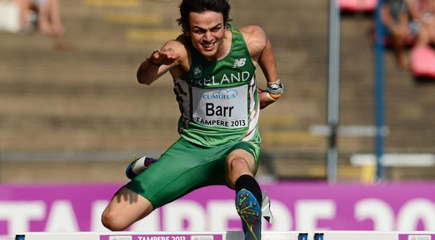 Irish 400m record holder, Thomas Barr. Picture credit: Paul Mohan / SPORTSFILE