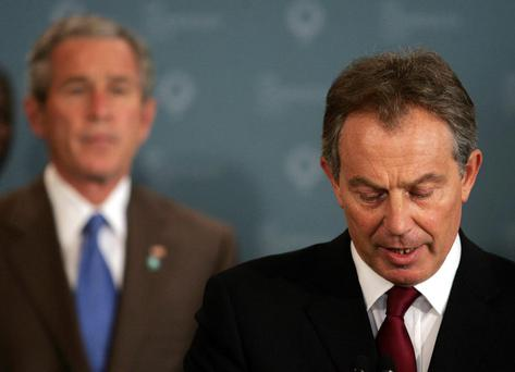 Tony Blair backed George W Bush's Iraq plan.