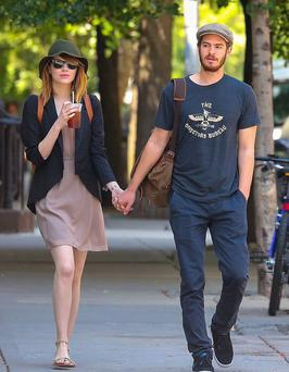 Emma Stone and beau Andrew Garfield enjoy a romantic stroll in New York City