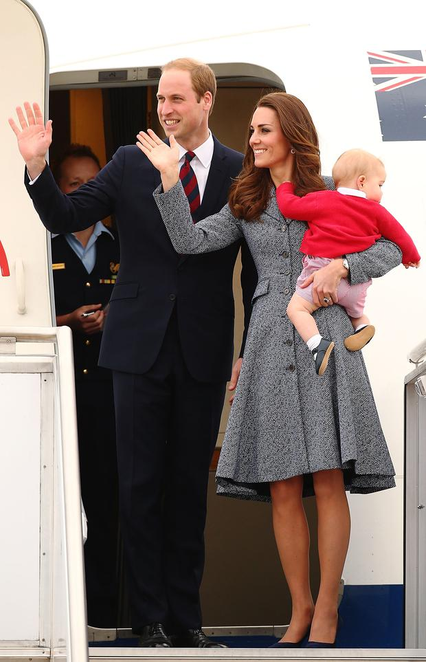 The royal couple and their adorable son are super stylish as they leave Oz (in Erdem)
