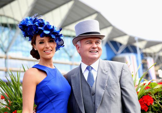 Isabel Webster and Eamonn Holmes attend day one of Royal Ascot at Ascot Racecourse