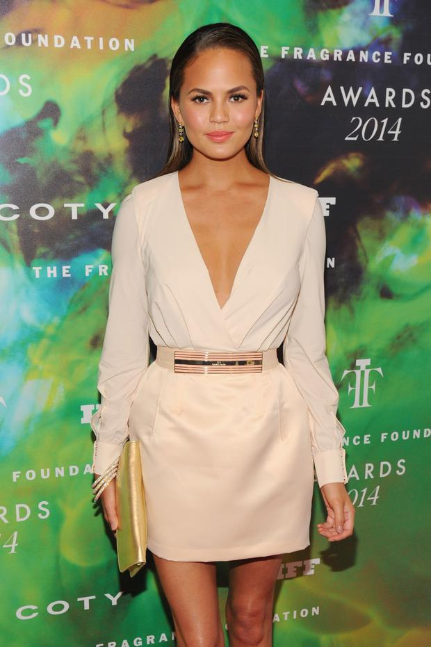 Model Chrissy Teigen attends the 2014 Fragrance Foundation Awards on June 16, 2014 in New York City. (Photo by Bryan Bedder/Getty Images for Fragrance Foundation)
