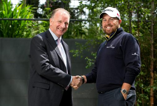 Tom Hayes, Director of Corporate Banking, Bank of Ireland, and Shane Lowry